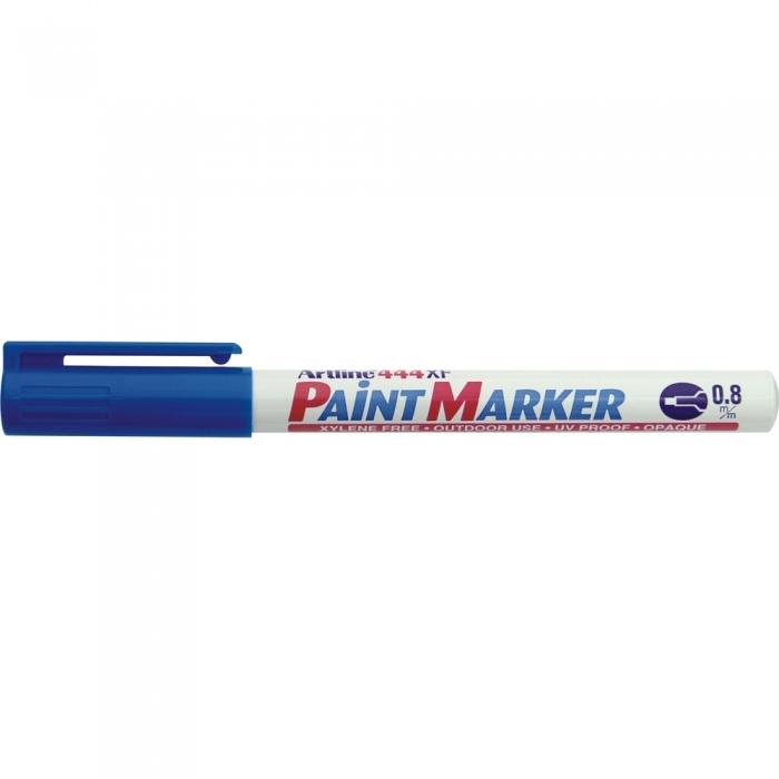 Marker cu vopsea ARTLINE 444XF, corp metalic, varf rotund 0.8mm - albastru [0]