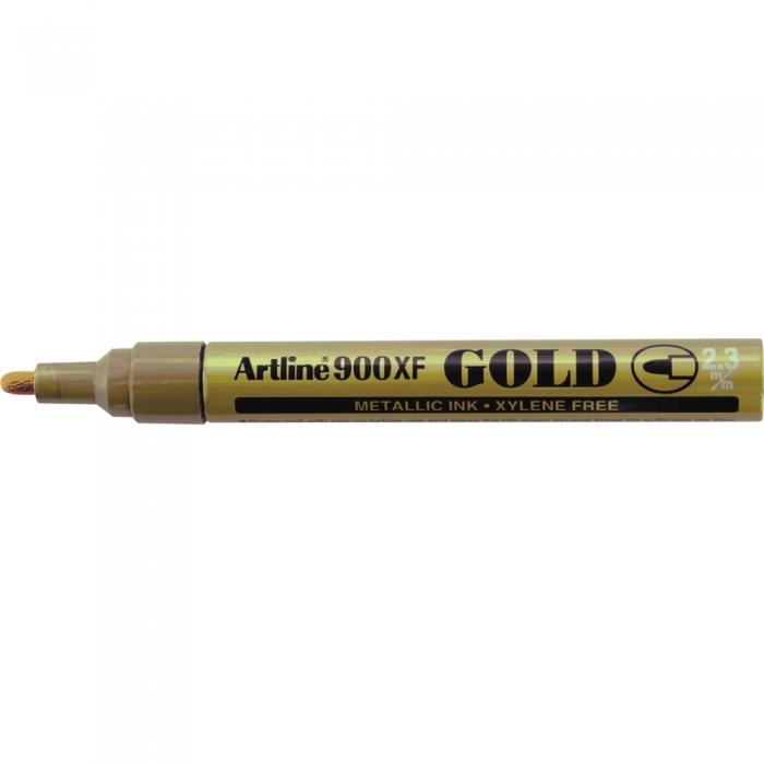 Marker cu vopsea ARTLINE 900XF, corp metalic, varf rotund 2.3mm - auriu [0]