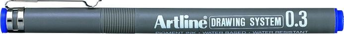 Marker pentru desen tehnic ARTLINE, varf fetru 0.3mm - albastru [0]