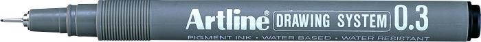 Marker pentru desen tehnic ARTLINE, varf fetru 0.3mm - negru [0]
