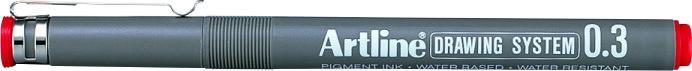 Marker pentru desen tehnic ARTLINE, varf fetru 0.3mm - rosu [0]