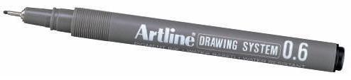 Marker pentru desen tehnic ARTLINE, varf fetru 0.6mm - negru [0]