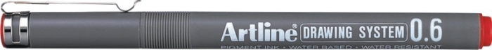 Marker pentru desen tehnic ARTLINE, varf fetru 0.6mm - rosu [0]