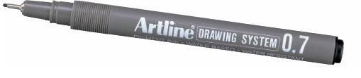 Marker pentru desen tehnic ARTLINE, varf fetru 0.7mm - negru [0]