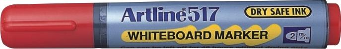 Marker pentru tabla de scris ARTLINE 517 - Dry safe ink, varf rotund 2.0mm - rosu 0
