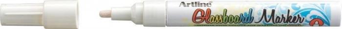 Marker pentru tabla de sticla ARTLINE Glassboard, varf rotund 2.0mm - alb [0]