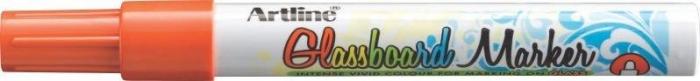 Marker pentru tabla de sticla ARTLINE Glassboard, varf rotund 2.0mm - portocaliu fluorescent 0