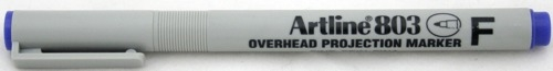 OHP Non-Permanent marker ARTLINE 803, varf fin - 0.5mm - albastru [0]