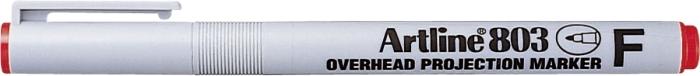 OHP Non-Permanent marker ARTLINE 803, varf fin - 0.5mm - rosu [0]