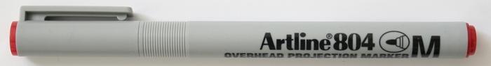 OHP Non-Permanent marker ARTLINE 804, varf mediu - 1.0mm - rosu [0]