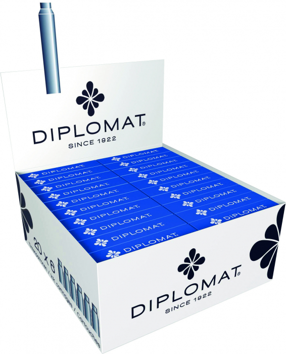 Patroane cerneala, 6 buc/cutie, DIPLOMAT - albastru royal [0]