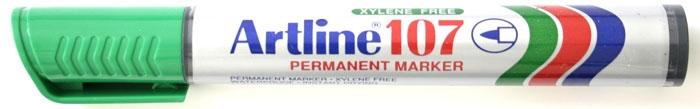 Permanent marker ARTLINE 107, corp plastic, varf rotund 1.5mm - verde [0]