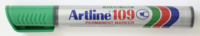 Permanent marker ARTLINE 109, corp plastic, varf tesit 2.0-5.0mm - verde [0]