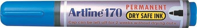 Permanent marker ARTLINE 170 - Dry safe ink, corp plastic, varf rotund 2.0mm - albastru [0]