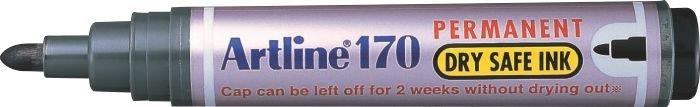 Permanent marker ARTLINE 170 - Dry safe ink, corp plastic, varf rotund 2.0mm - negru [0]