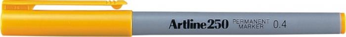 Permanent marker ARTLINE 250, corp plastic, varf rotund 0.4mm - galben [0]