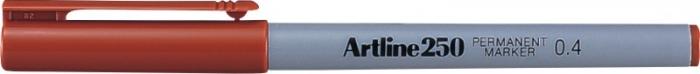 Permanent marker ARTLINE 250, corp plastic, varf rotund 0.4mm - maro [0]