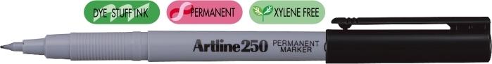 Permanent marker ARTLINE 250, corp plastic, varf rotund 0.4mm - negru [0]