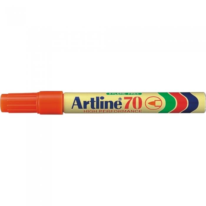 Permanent marker ARTLINE 70, corp metalic, varf rotund 1.5mm - portocaliu [0]