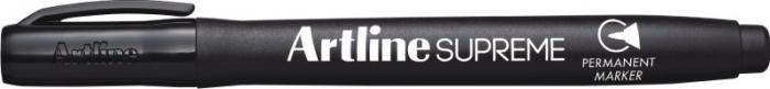 Permanent marker ARTLINE Supreme, corp plastic, varf rotund 1.0mm - negru [0]