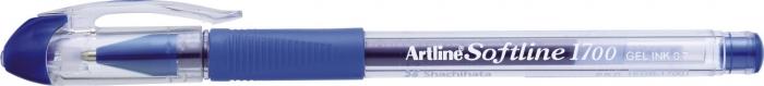 Pix cu gel ARTLINE Softline 1700, rubber grip, varf 0.7mm - albastru [0]