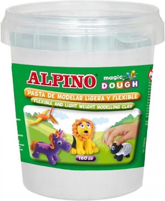 Plastilina magica, 160 grame/cutie, ALPINO - alba 0