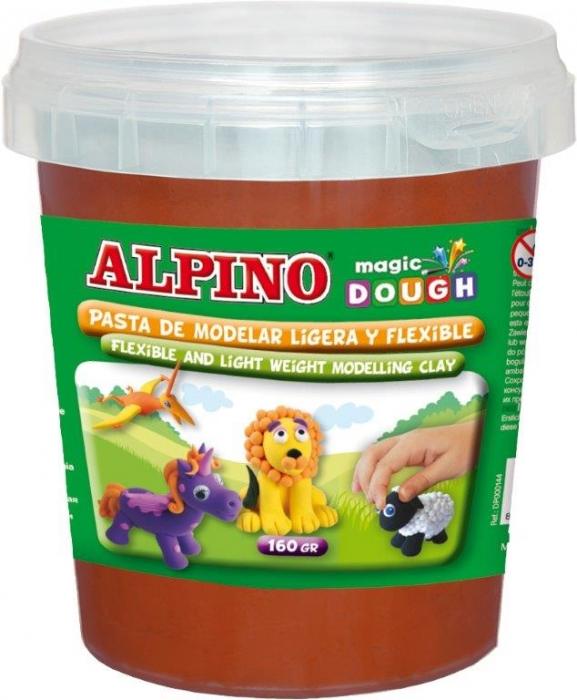 Plastilina magica, 160 grame/cutie, ALPINO - maron 0