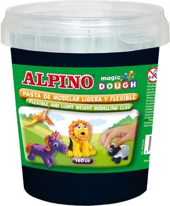 Plastilina magica, 160 grame/cutie, ALPINO - neagra 0