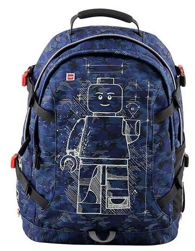 Rucsac Tech Teen, LEGO Core Line - design Minifigures Blue Camo 0