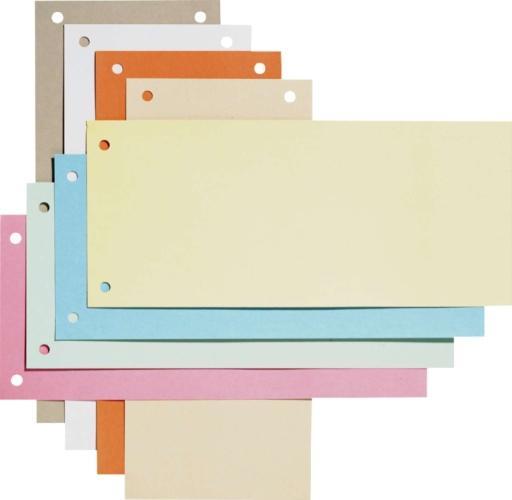 Separatoare carton pentru biblioraft, 190g/mp, 105 x 240 mm, 100/set, ELBA - orange 0