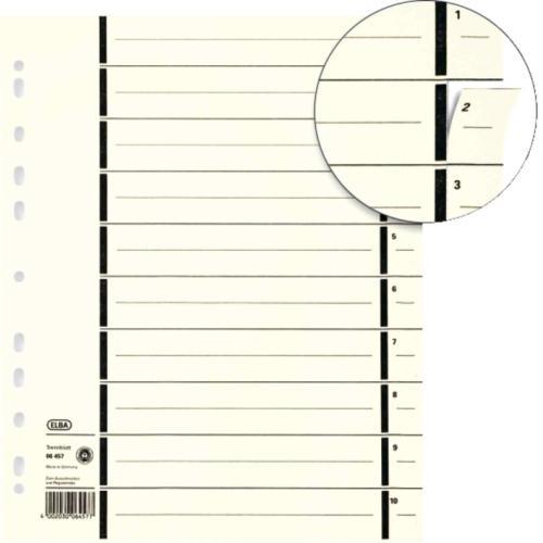 Separatoare carton manila, 230g/mp, 300 x 240mm, 100/set, ELBA -  chamois [0]