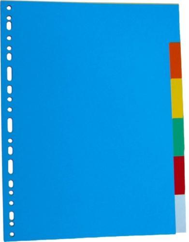 Separatoare carton color, A4, 180g/mp,  6 culori/set, Optima [0]