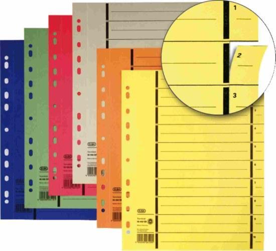 Separatoare carton manila 250g/mp, 300 x 240mm, 100/set, ELBA - galben [0]