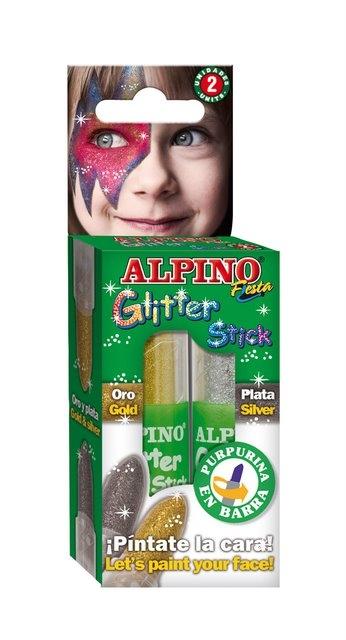 Set 2 culori machiaj, ALPINO Glitter Sticks - auriu/argintiu 0