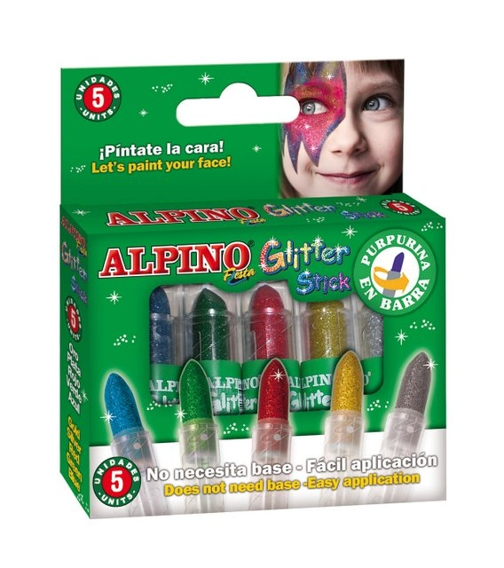 Set 5 culori machiaj, ALPINO Glitter Sticks - asortate 0