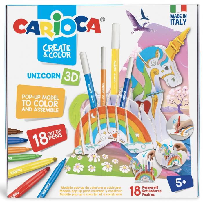 Set articole creative CARIOCA Create & Color - UNICORN 3D 0