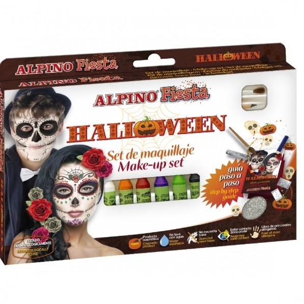 Set machiaj ALPINO Halloween - 6 culori x 5 gr + accesorii 0