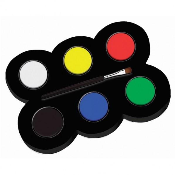 Set machiaj ALPINO Make-up pallete Classic - 6 culori + pensula [0]