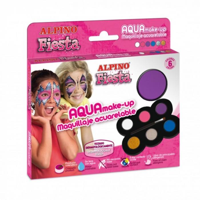 Set machiaj ALPINO Make-up pallete Princess - 6 culori + pensula 0