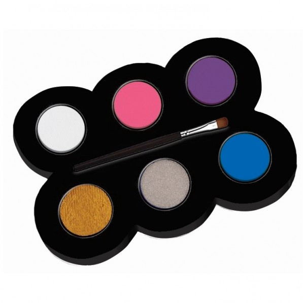Set machiaj ALPINO Make-up pallete Princess - 6 culori + pensula 0