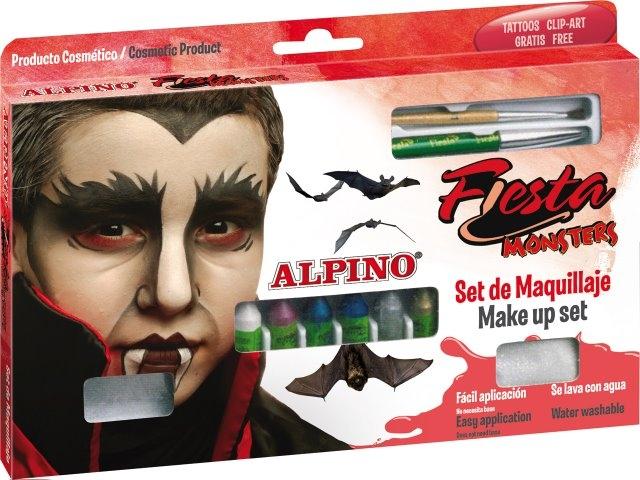 Set machiaj ALPINO Monsters - 6 culori x 5 gr + accesorii 0