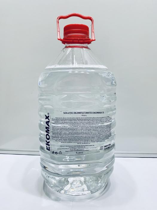 Solutie dezinfectanta pentru suprafete, canistra 5 litri, EKOMAX 0