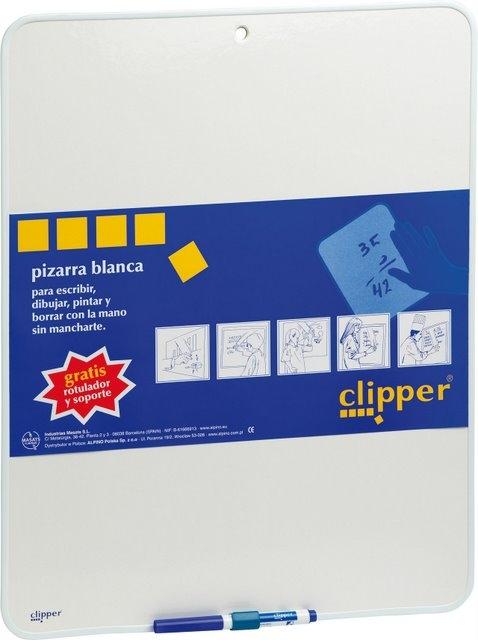 Tablita pentru scris 25.5 x 18 cm + marker, CLIPPER - alba 0