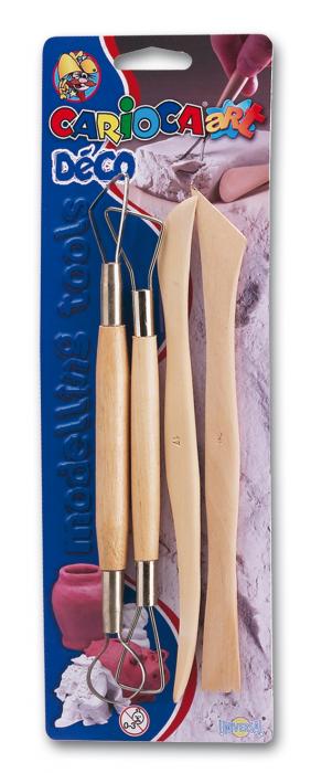 Ustensile pentru pasta de modelat, 4 buc/blister, CARIOCA Deco Glossy [0]