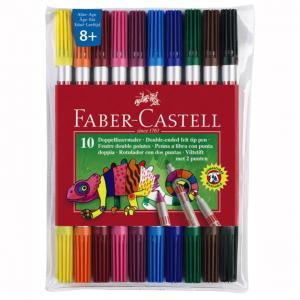 Carioca 10 Culori 2 Capete Faber-Castell0
