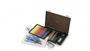 Creioane Colorate Acuarela A.Durer Faber-Castell, 24 culori, cutie metalica1