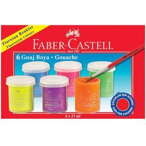 Guase Faber-Castell - 6 Culori 15 Ml Fluorescente0