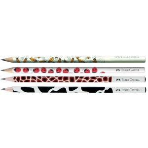 Creion Grafit B Cu Modele Faber-Castell - model buburuza0