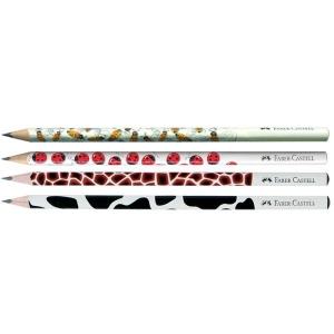 Creion Grafit B Cu Modele Faber-Castell - model buburuza1