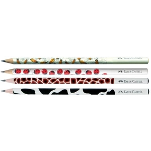 Creion Grafit B Cu Modele Faber-Castell - model albinuta1
